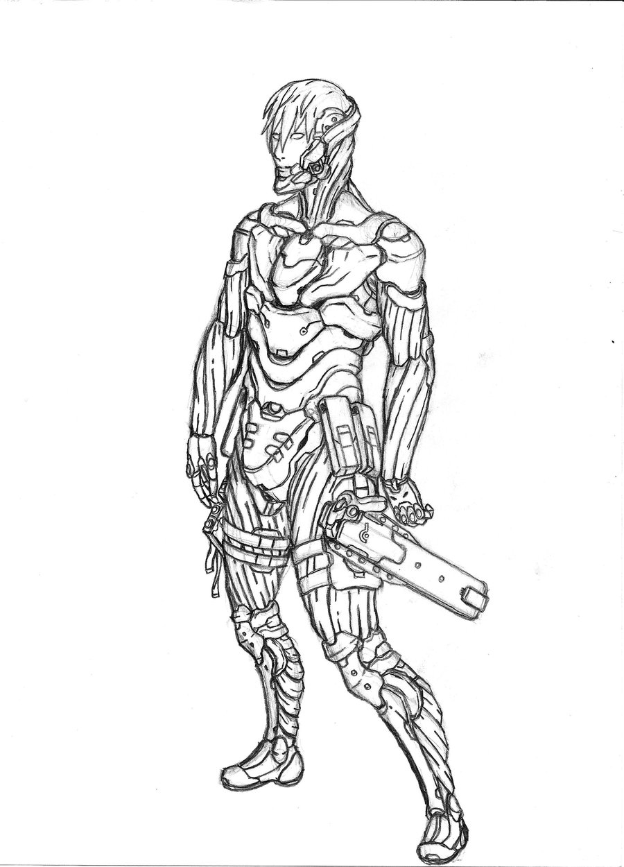Drawn soldier futuristic Soldier ninja futuristic triatholisk DeviantArt