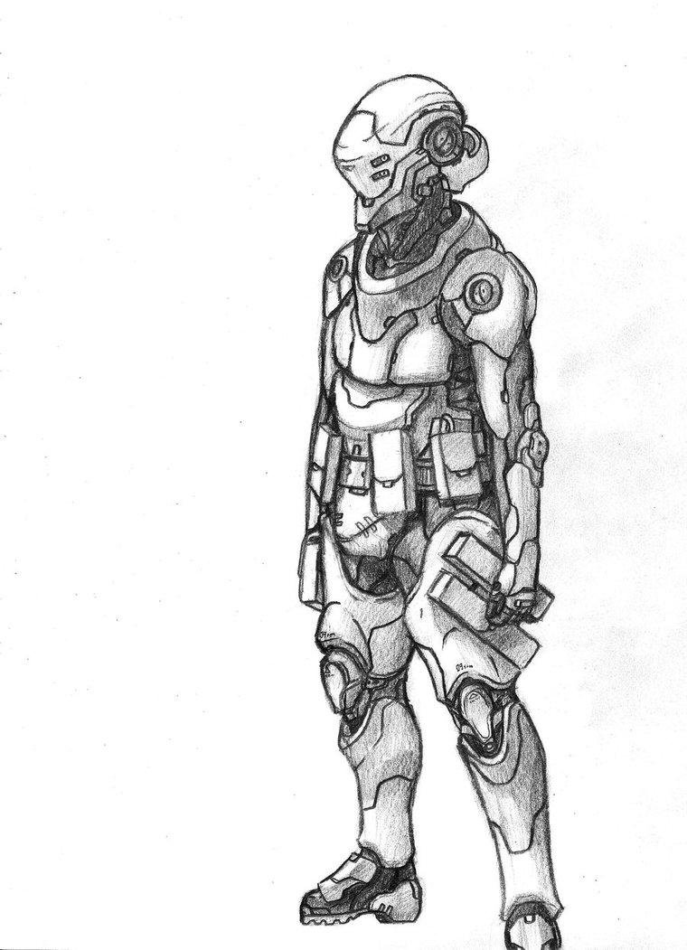 Drawn soldier futuristic Drawing art Instagram futuristic artwork