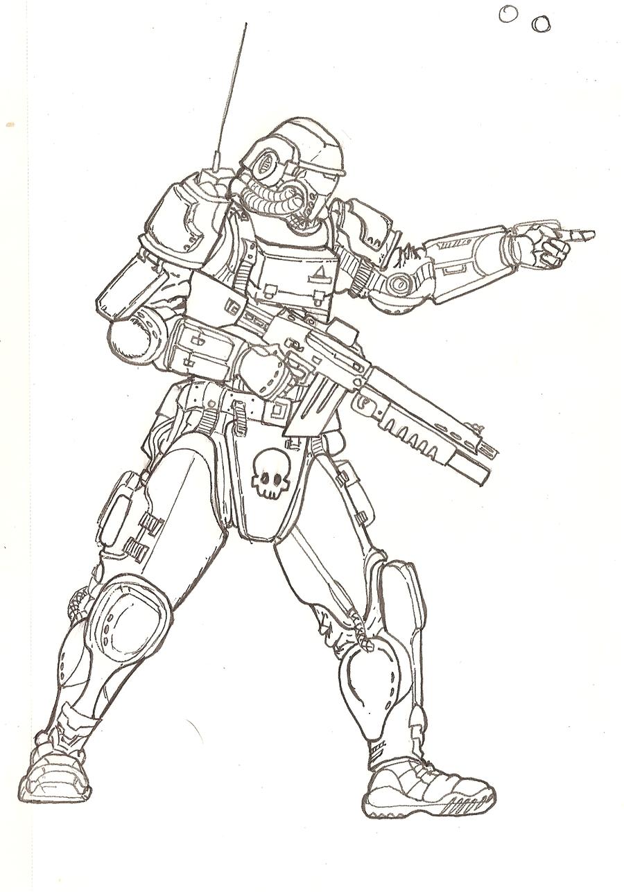 Drawn soldier futuristic By soldier soldier Futuristic TheMuffinKingXxX