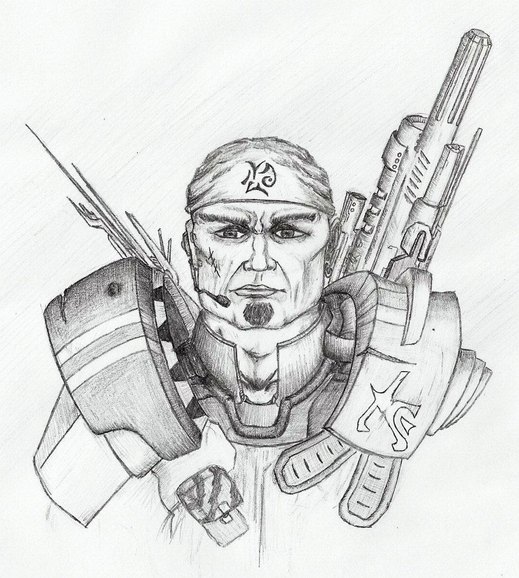 Drawn soldier futuristic By soldier soldier Futuristic dVicko