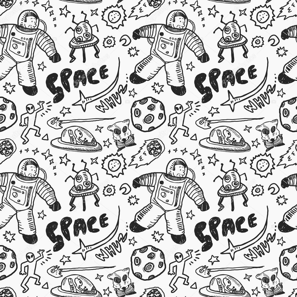 Drawn space Space #59807043 Vector Stock Hand