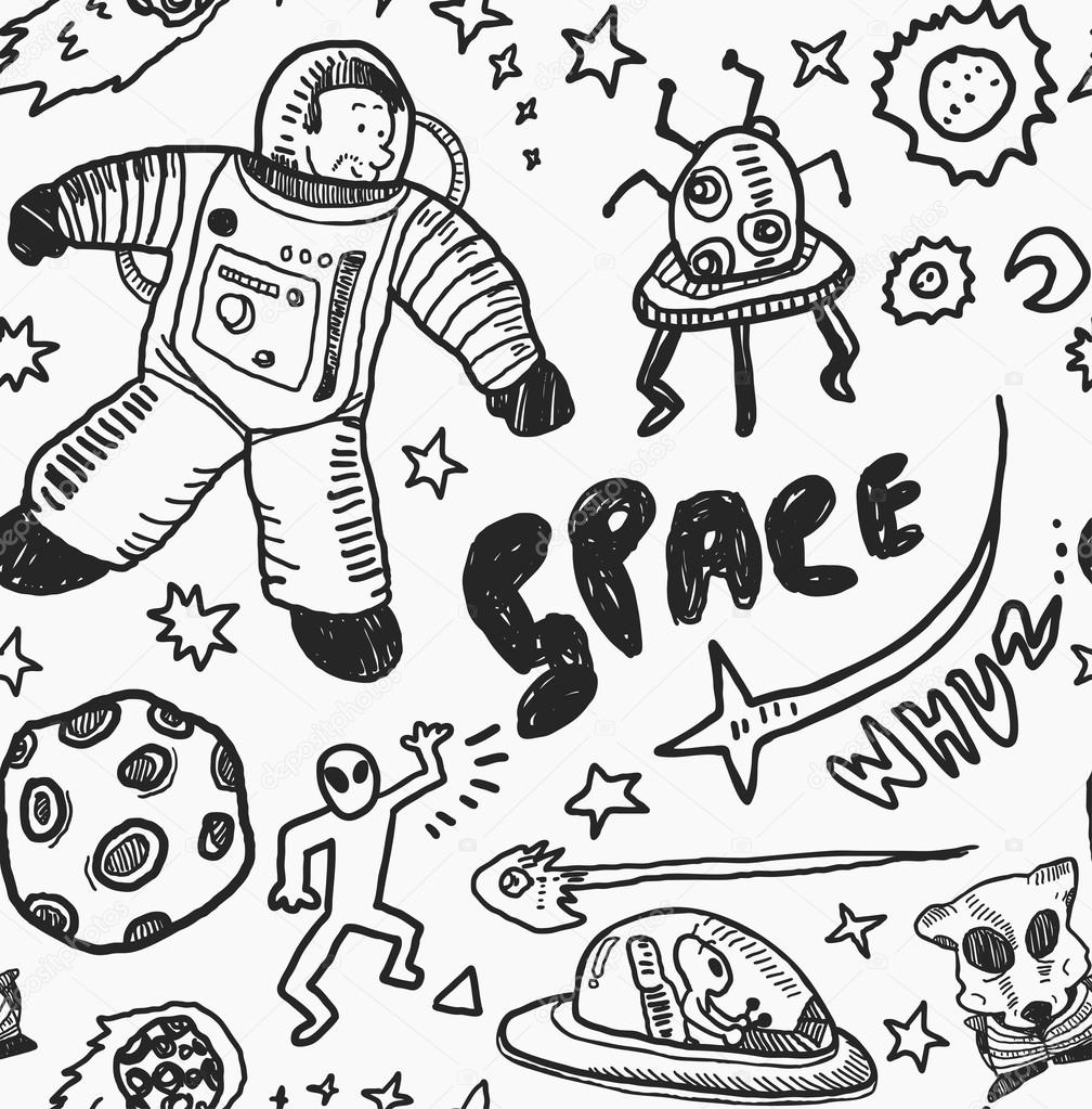 Drawn space Space #59809677 Vector Stock Hand