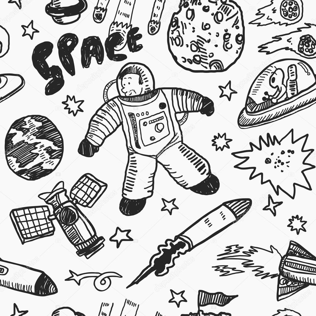 Drawn space Space #59810171 Vector Stock Hand
