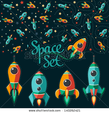 Drawn space background kid Of Seamless stars Cartoon and