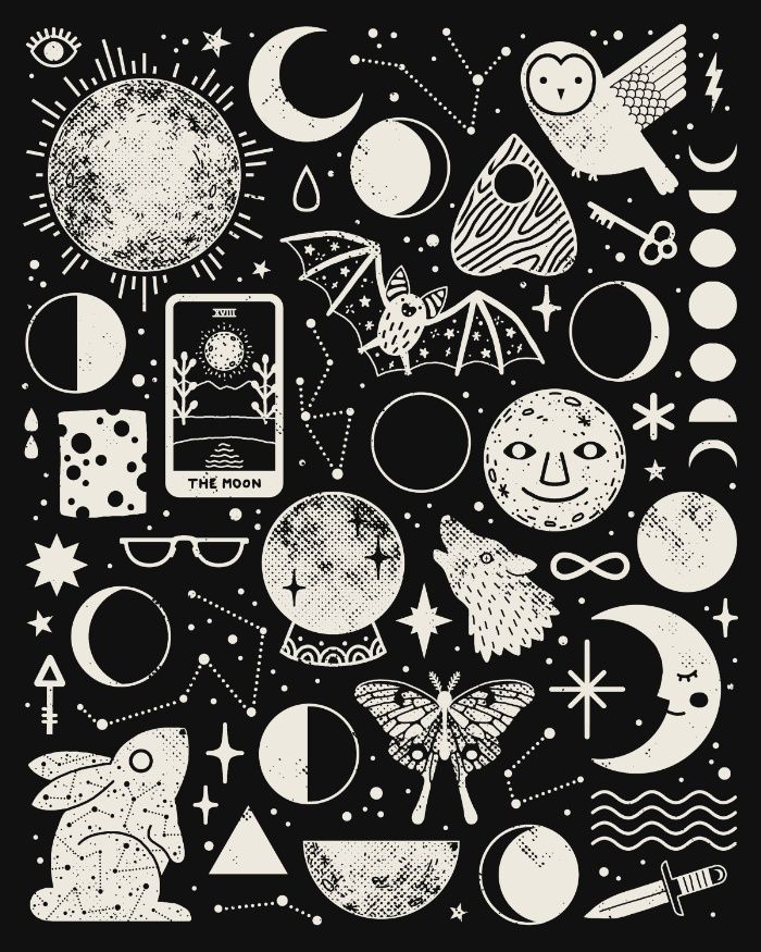 Drawn space black and white Black A Best pattern and