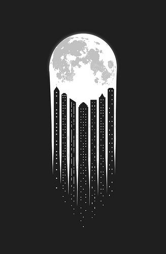 Drawn space black and white Negative and Best art ideas