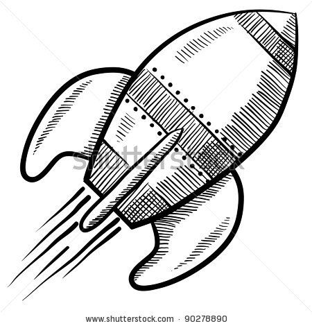 Drawn spaceship Drawing 102 about vector best
