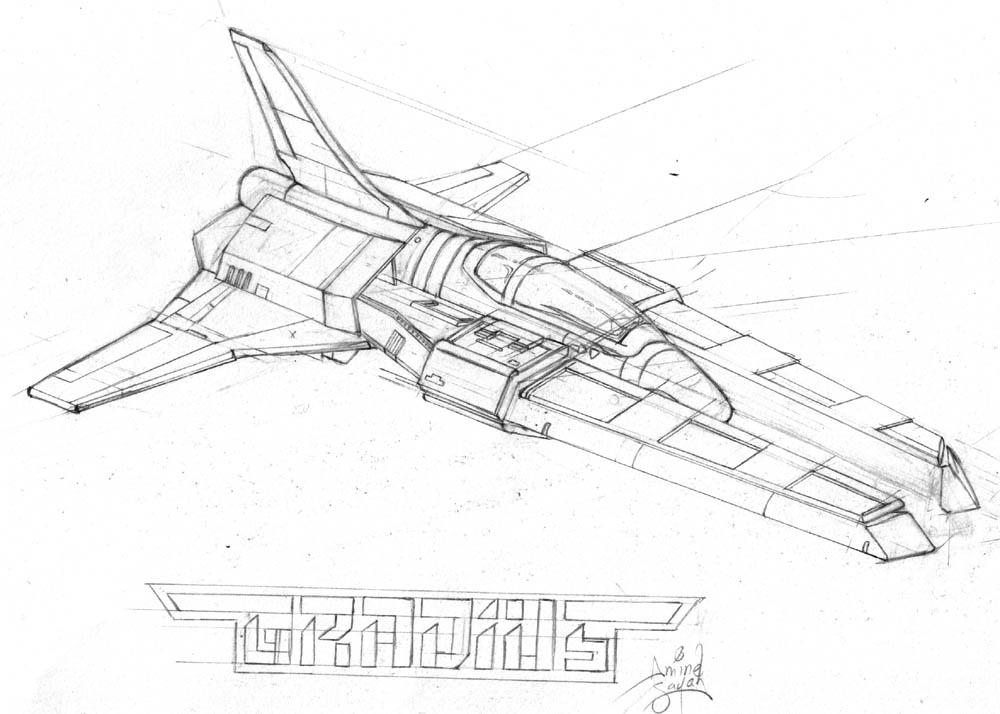 Drawn spaceship By DeviantArt spaceship NekoAmine Gradius