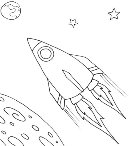 Drawn spaceship coloring page In Schmidt's any printing Ship