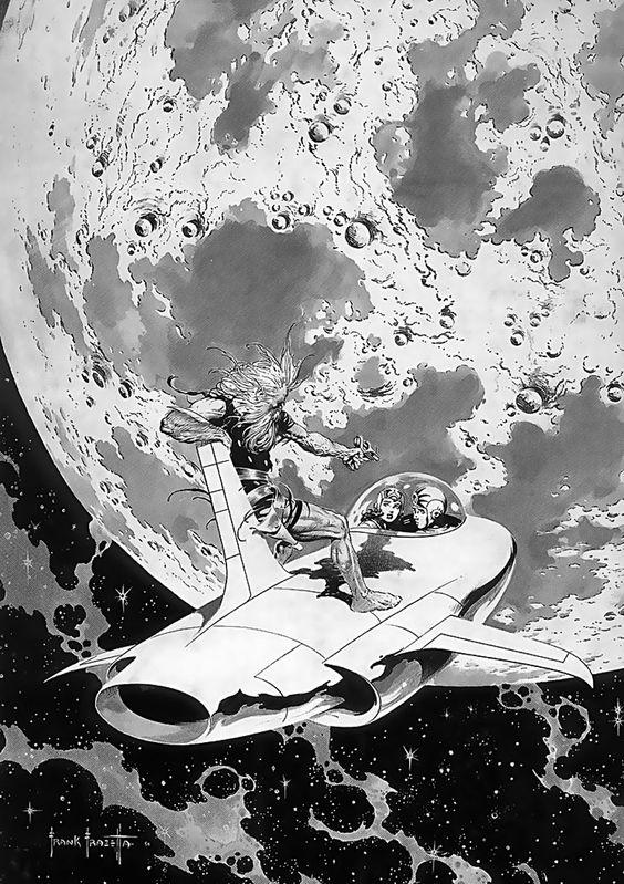 Drawn spaceship comic book Frazetta 1928 Frazetta True Rules