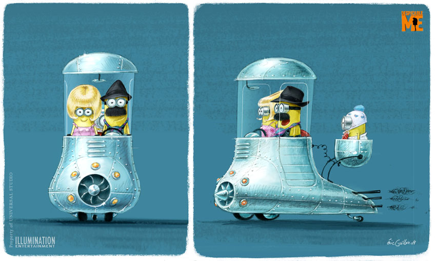 Drawn spaceship despicable me See http:/ ME Me Despicable