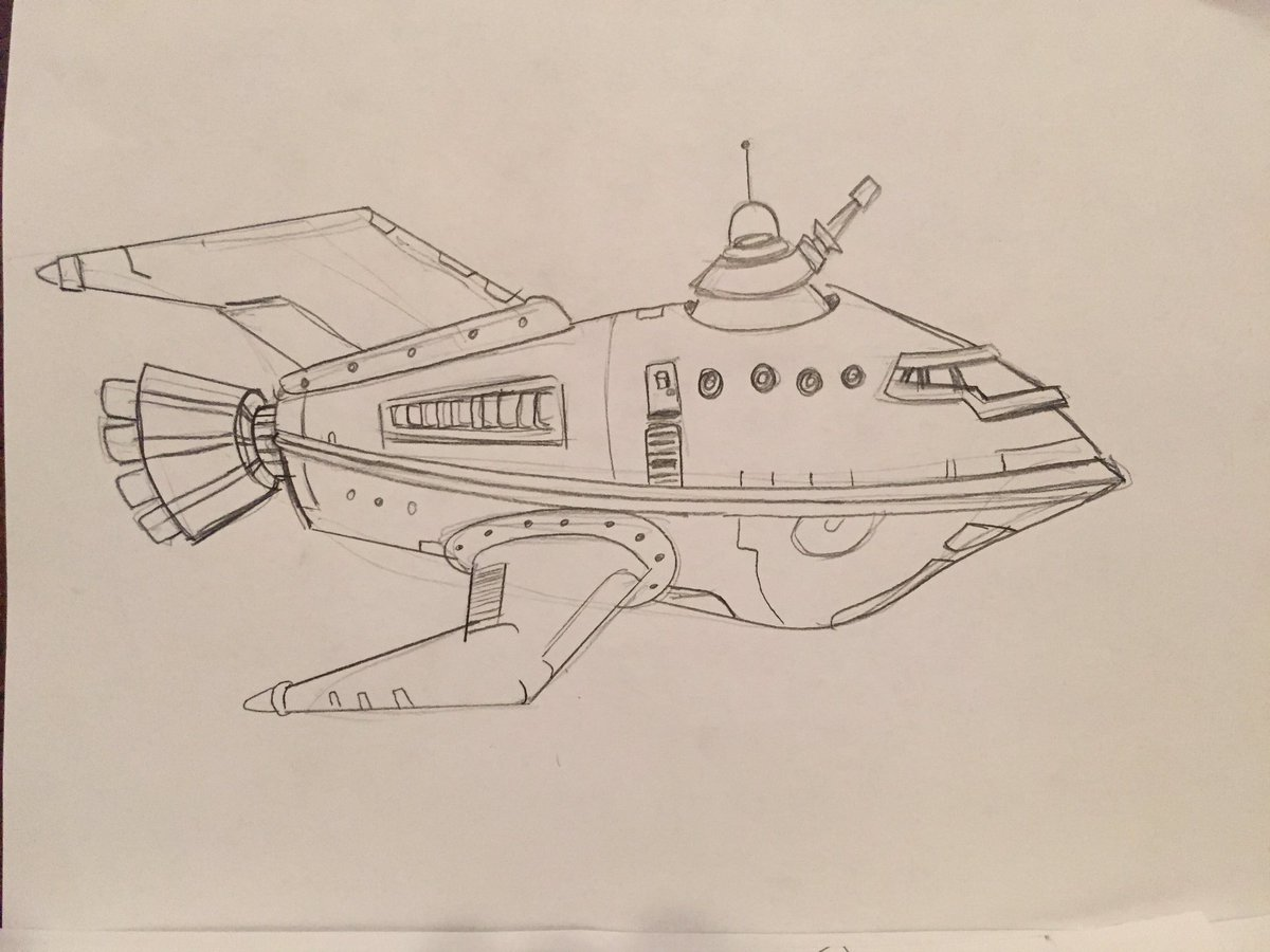 Drawn spaceship futurama Forever 4 Twitter Futurama 3