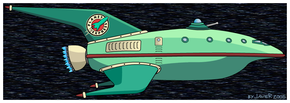 Drawn spaceship futurama Art fan spaceship futurama (javoec)