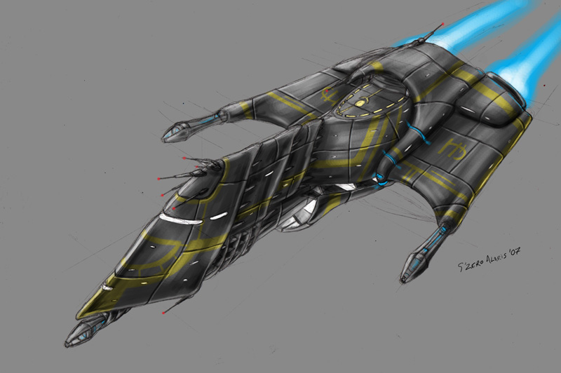 Drawn spaceship junker Design on s0lar1x DeviantArt SpaceShip
