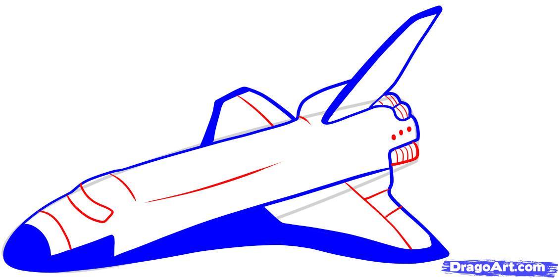 Drawn spaceship nasa Space Shuttle Shuttle Step Step