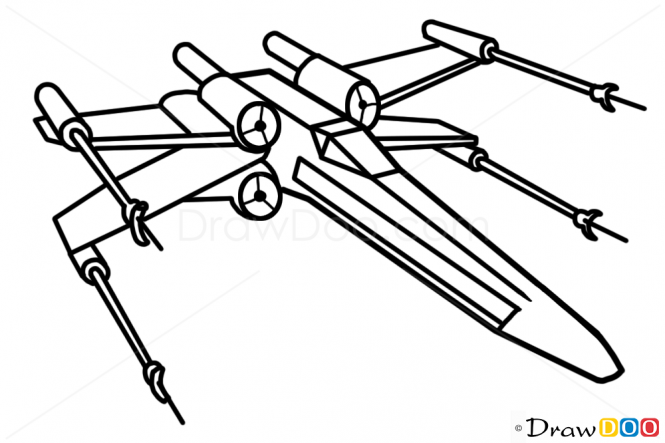 Drawn spaceship simple Wing Wars Spaceships Star X