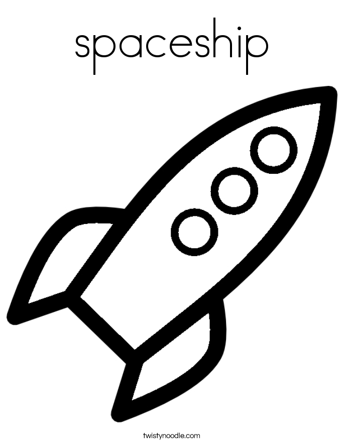 Drawn spaceship simple Noodle Shuttle shuttle Coloring Space