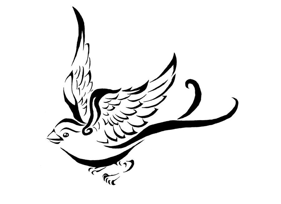 Drawn sparrow ~Elemental drawings drawings by war