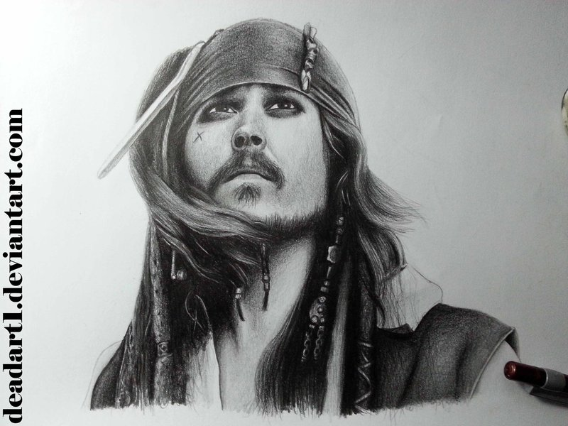 Drawn sparrow color Jack Jack Drawing sparrow Sparrow