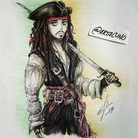 Drawn sparrow color Had Pirate Jack from alot