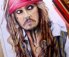 Drawn sparrow color Jack Johnny of Depp Pirates