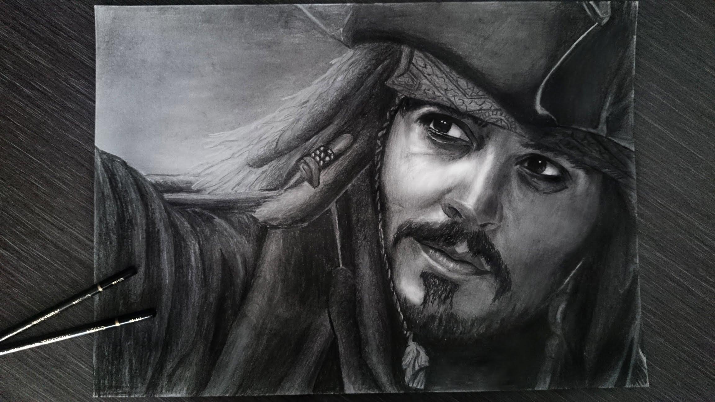 Drawn sparrow detailed YouTube Jack Captain Jack Johnny