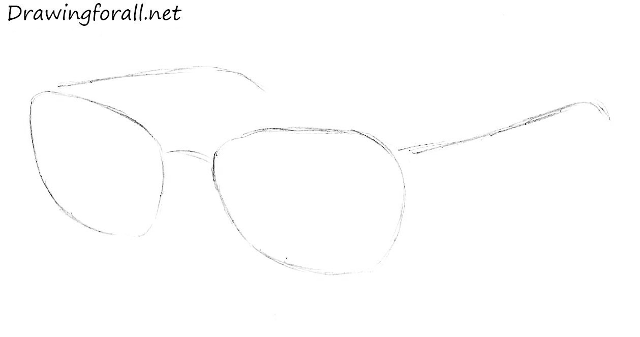 Drawn spectacles Glasses DrawingForAll to by step