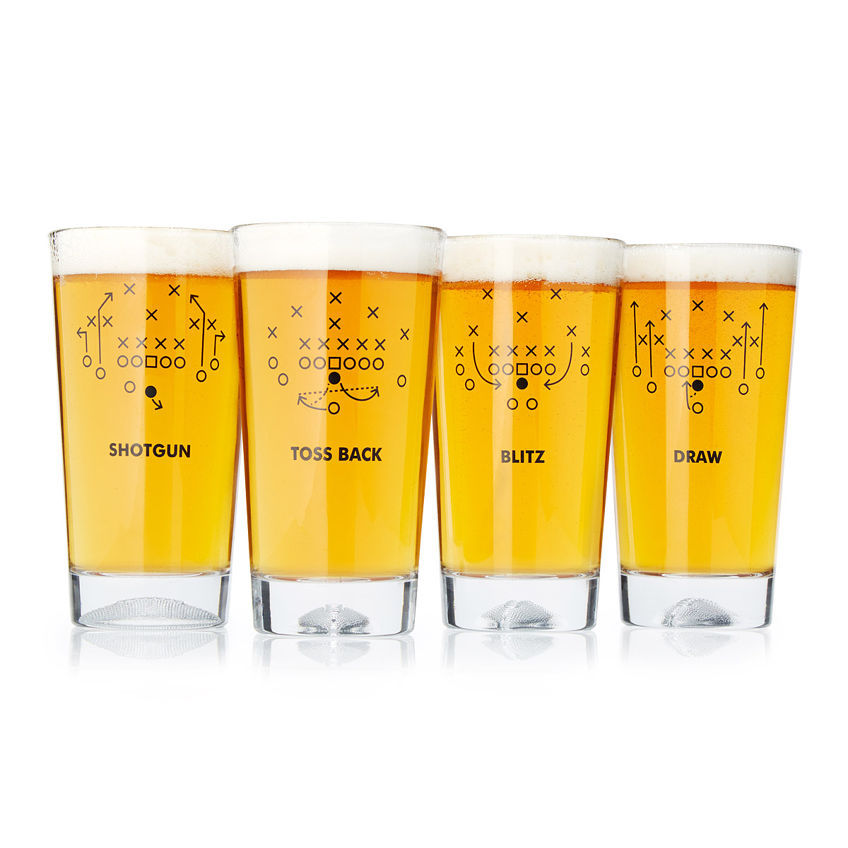 Drawn spectacles drinking glass Playbook Sets UncommonGoods 4 Glass