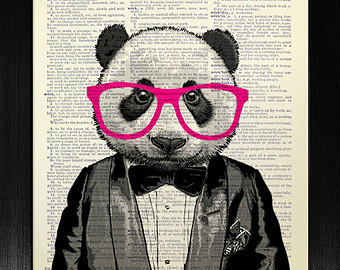 Drawn spectacles geek Art Geeky glasses Geek print