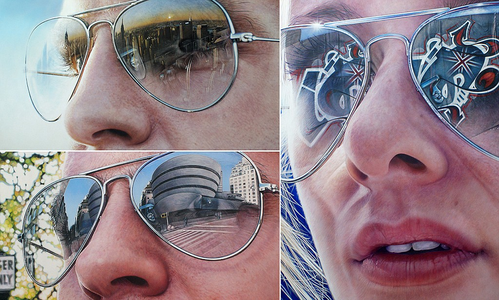 Drawn spectacles hyper realistic Online creates Hennessy reflected of