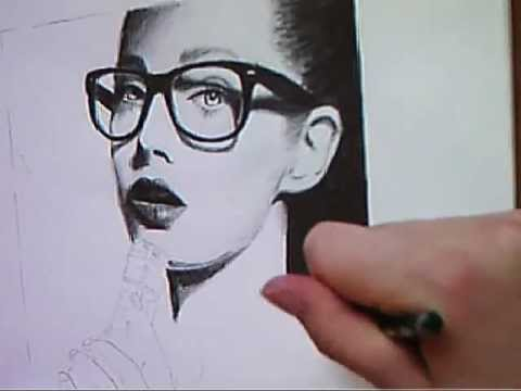 Drawn spectacles hyper realistic Drawing Drawing Speed Glasses: Nerd