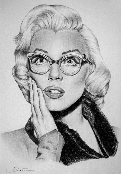 Drawn spectacles hyper realistic In and on Glasses The