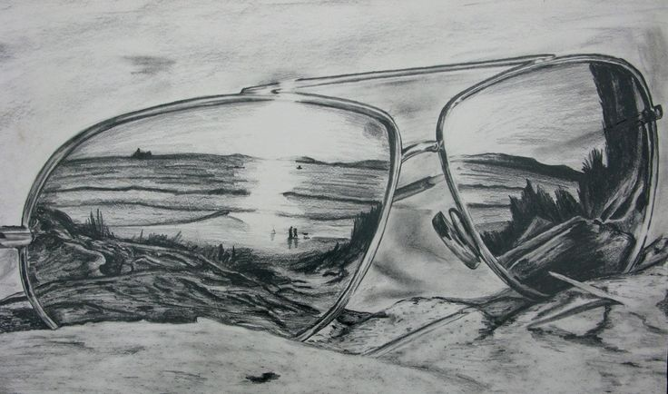 Drawn spectacles reflection Reflection Image Gallery  drawings