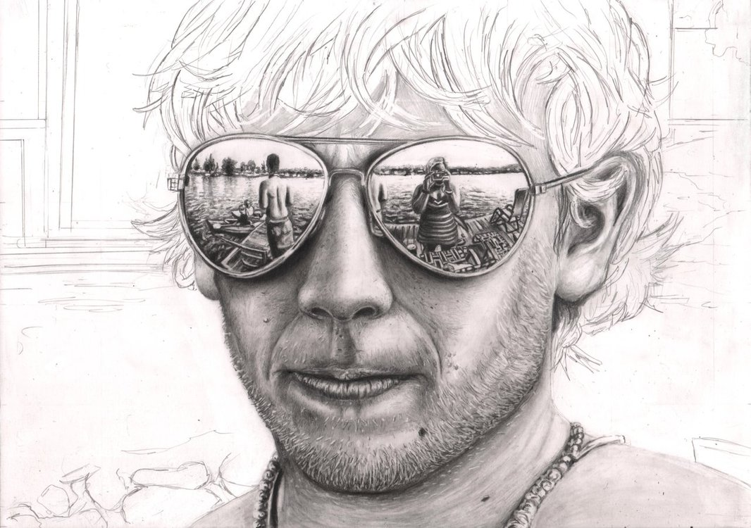 Drawn spectacles reflection DeviantArt Pen on 65% Glasses'