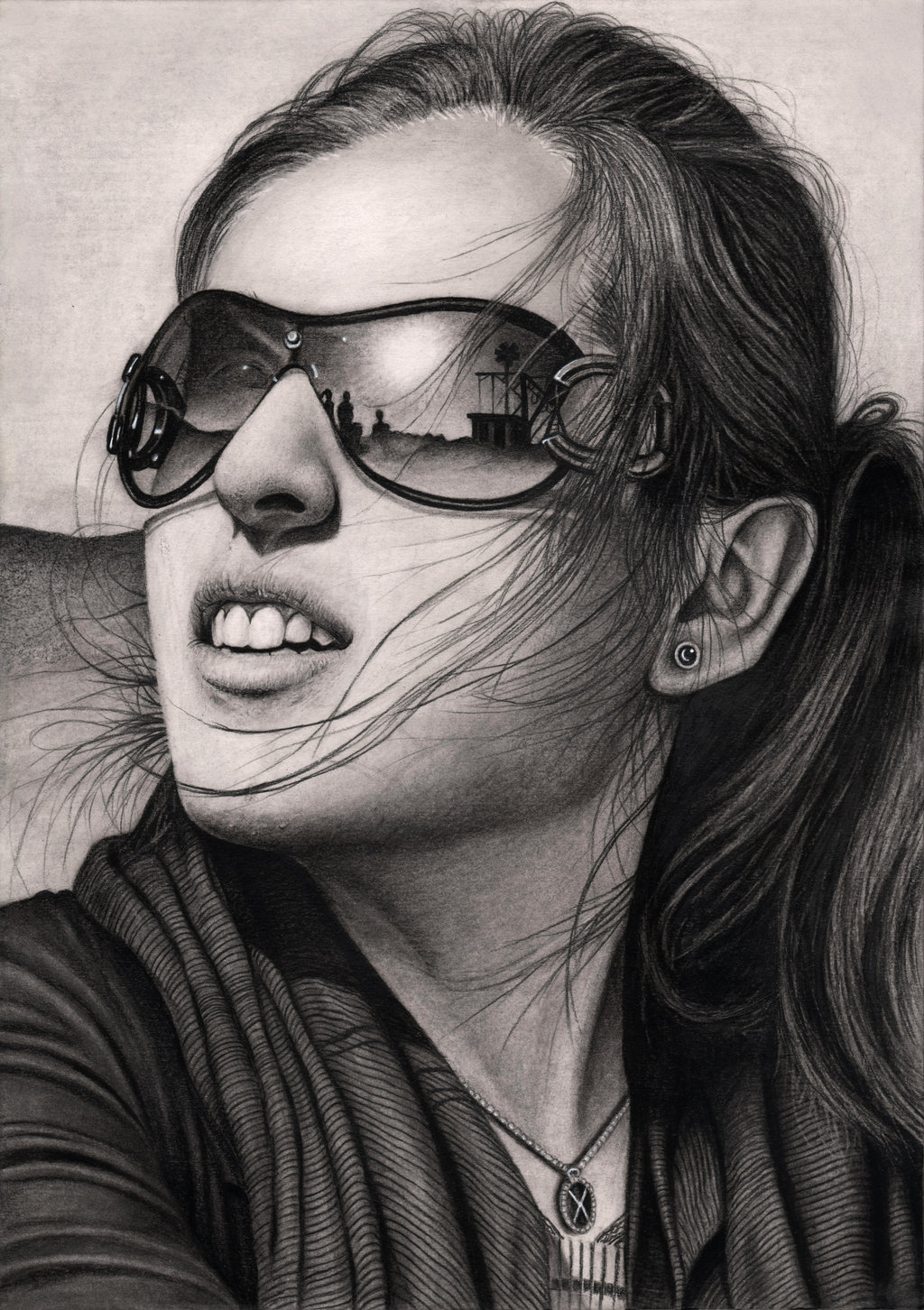 Drawn spectacles reflection By Pen DeviantArt Artist 'Reflection'