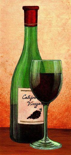 Drawn spectacles wine bottle Wine  wine Wine Bottle