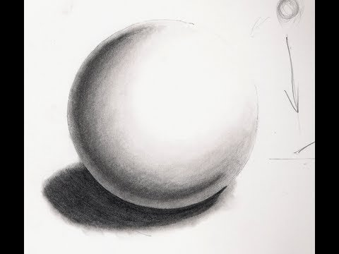 Drawn sphere Drawing [Realistic 3/8] A To