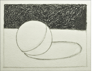 Drawn sphere The At background the it
