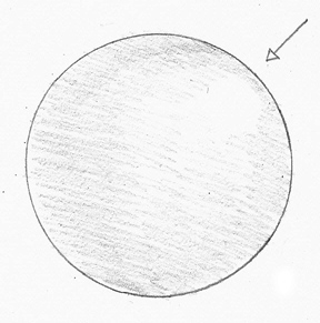 Drawn sphere To pencil to By A