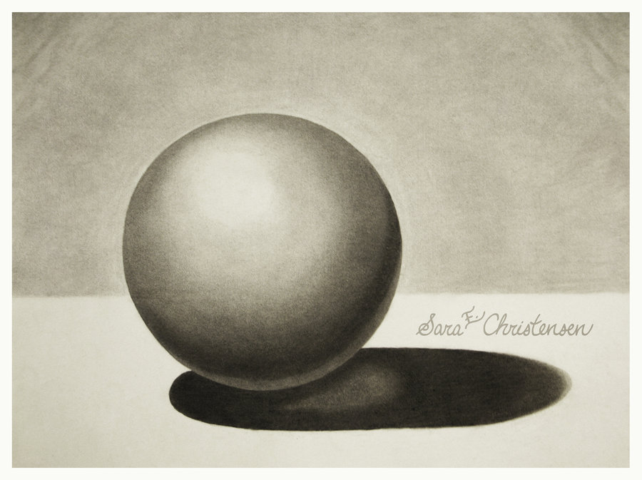 Drawn sphere Charcoal SaraChristensen on by by