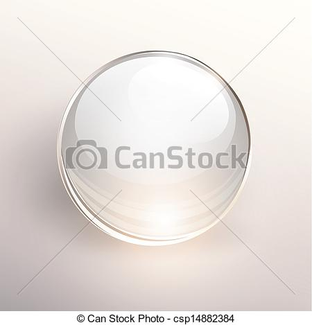 Drawn sphere empty glass Of background background Glass