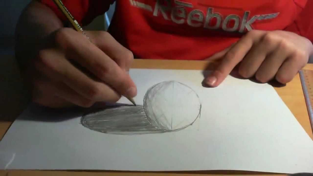 Drawn sphere empty glass Empty Anamorphic Like Art Drawing