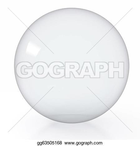 Drawn sphere empty glass Gg63505168 empty on on render