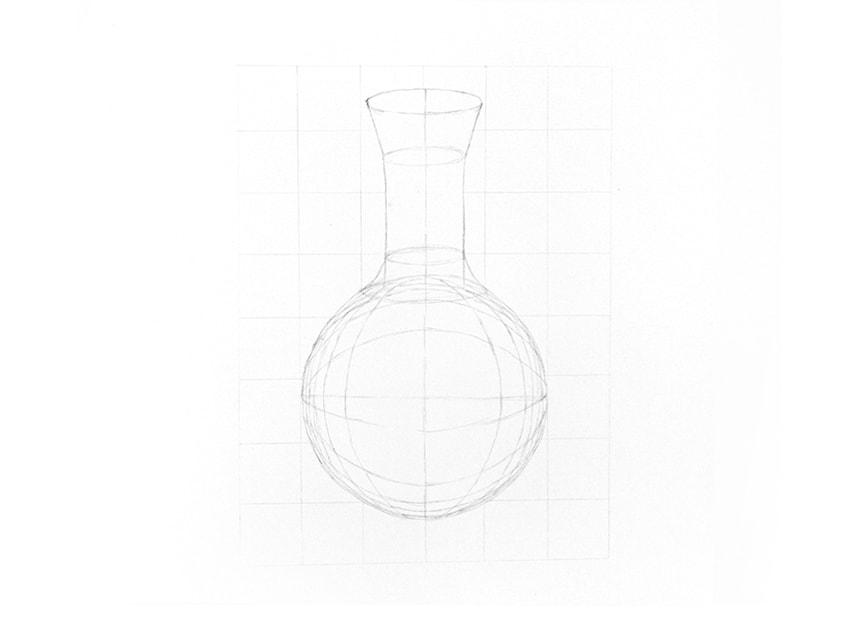 Drawn sphere empty glass Glass to draw sphere how