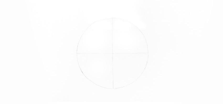 Drawn sphere empty glass Draw circle Glass draw a