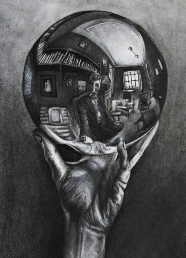Drawn sphere light on On Escher Self EDC161 M
