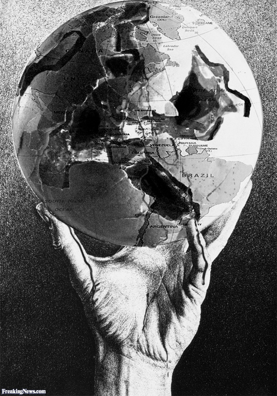 Drawn sphere light on Escher Holding Croken Hand Hand