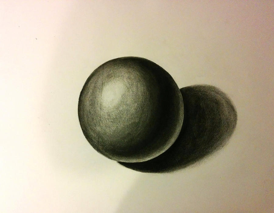 Drawn sphere charcoal Drawing Leea by Ball Charcoal