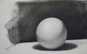 Drawn sphere charcoal Forum: for DeviantArt Looking Value