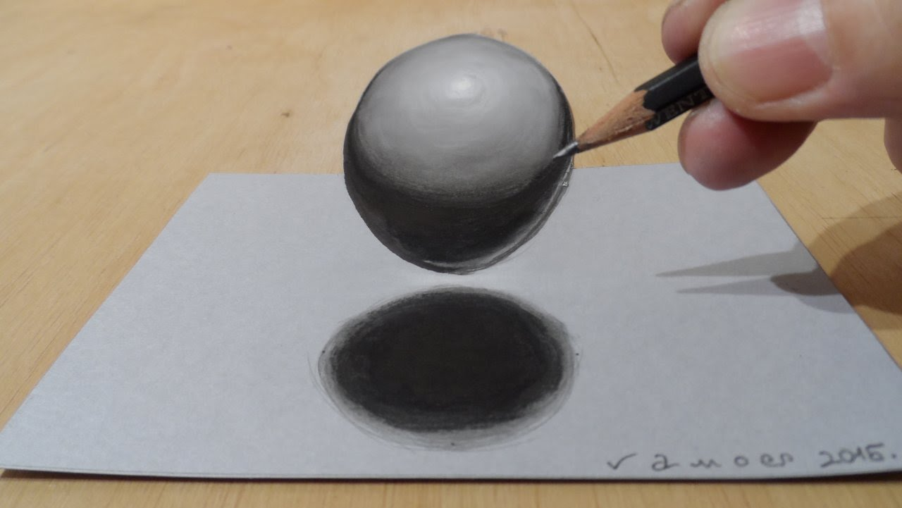 Drawn sphere charcoal Of Drawing Ball Levitating YouTube